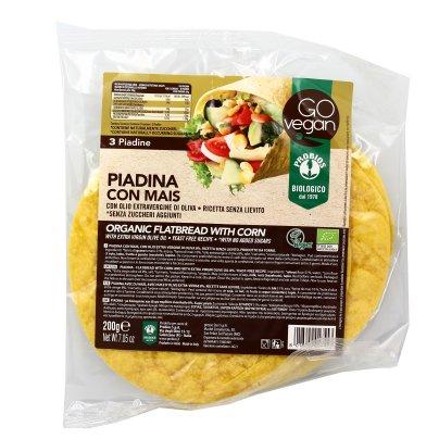 """Piadina con Mais Bio """"Go Vegan"""""""