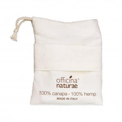 """Guanto Doccia """"Salva Co.so."""" Tessuto 100% Canapa"""