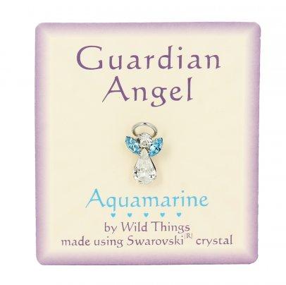 Spilla Guardian Angel Fortuna (Aquamarina)