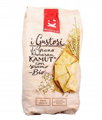 Crackers di Grano Khorasan Kamut® con Sesamo Bio - I Gustosi