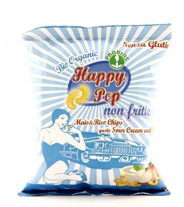 Chips di Mais & Riso gusto Sour Cream & Onion - Happy Pop
