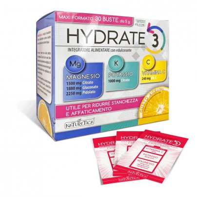 Hydrate 3: Magnesio, Potassio e Vitamina C - Senza Glutine