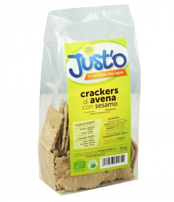 Crackers di Avena con Sesamo Bio - Just'o