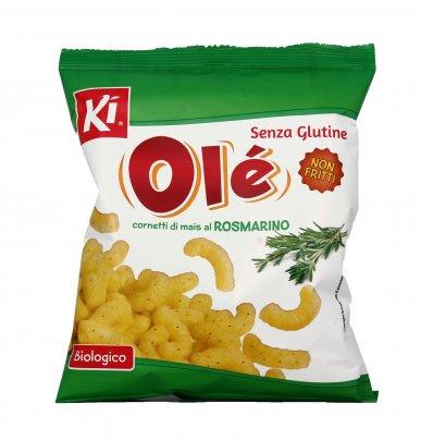 Cornetti di Mais al Rosmarino Bio - Olé Snack