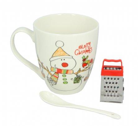 Kit Tazza Mug con Mini Grattugia Pupazzo di Neve