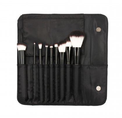 Kit Pennelli con Trousse Make-Up