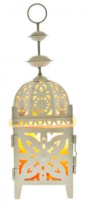 Lampada Lanterna ai Cristalli di Sale Oriente - 9 X 9 X 28 cm