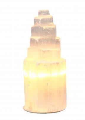 Lampada in Selenite Iceberg 22/24 cm (Base Plastica con Piedini)