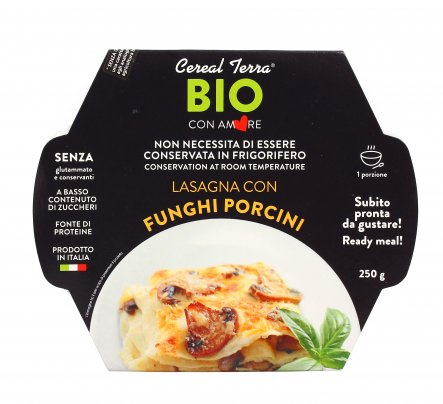 Lasagna con Funghi Porcini Bio