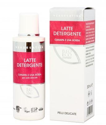 Latte Detergente Canapa e Uva Rossa per Pelli Delicate