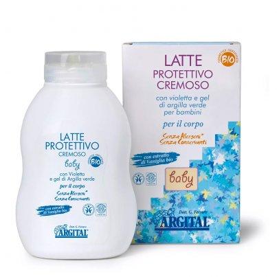Latte Protettivo con Violetta e Gel di Argilla Verde per Bambini