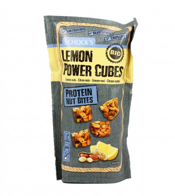 Cubetti Snack con Arachidi e Limone - Lemon Power Cubes
