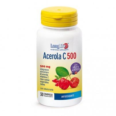 Acerola C 500 Masticabile - Antiossidante gusto Frutti di Bosco