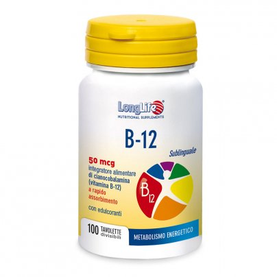 B-12 Sublinguale 50 Mcg - Metabolismo Energetico