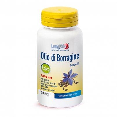 Olio di Borragine - Trofismo della Pelle 1300 Mg - 50 Perle