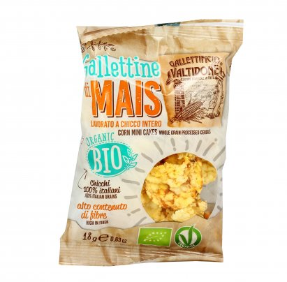 Mini Gallette di Mais Bio 100% Italiane 18 gr.