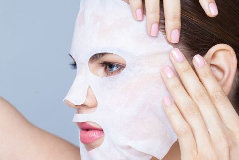 Maschera Basica in Tessuto Bianco