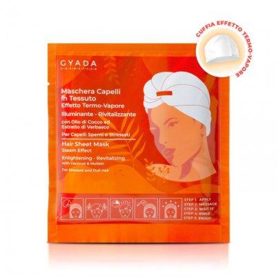 Maschera Capelli in Tessuto Effetto Termo Vapore - Illuminante e Rivitalizzante