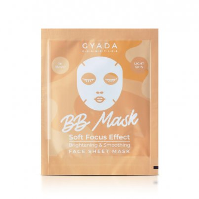 """Maschera Viso in Tessuto con BB Crema """"BB Mask"""" - Pelle Medio-Chiara"""