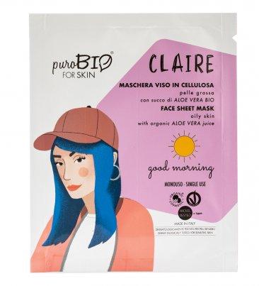 Maschera Viso con Aloe Vera - Good Morning Pelle Grassa (Claire)