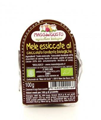 Mele Essiccate al Cioccolato Fondente