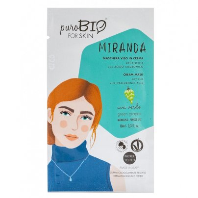 Maschera Viso in Crema Pelle Grassa - Miranda Uva Verde