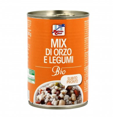 Mix di Orzo e Legumi Bio in Lattina