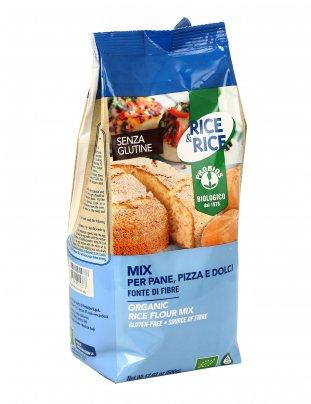 Mix per Pane Pizza e Dolci con Farina di Riso Senza Glutine - Rice & Rice