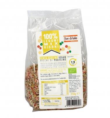 Pasta Risoni di Legumi Tricolore Bio - Senza Glutine