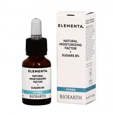 NMF (fattore di idratazione naturale) 5% + Zuccheri 8% - Elementa