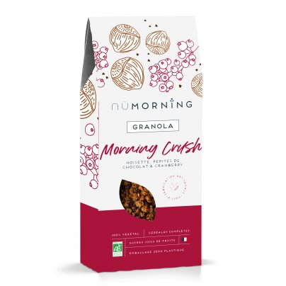"""Granola Bio Nocciole, Cioccolato e Cranberry """"Morning Crush"""""""