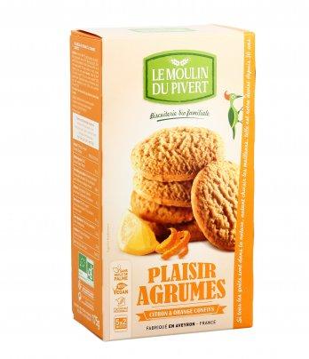 Biscotti con Limone e Arancia Canditi - Plaisir Agrumes