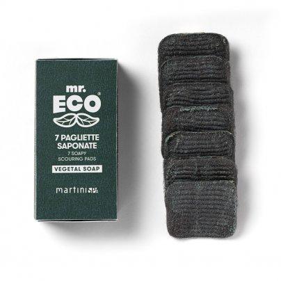 7 Spugne Pagliette Saponate (con Sapone Vegetale) - Mr. Eco