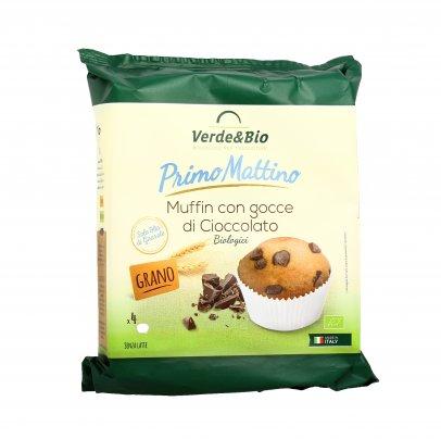 Muffin con Gocce di Cioccolato Biologici - Primo Mattino
