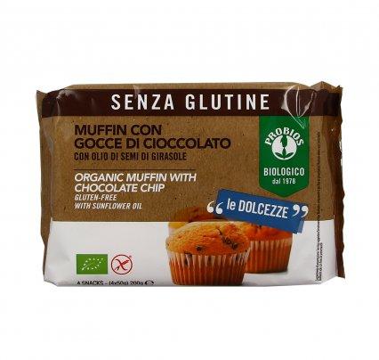 Muffin con Gocce di Cioccolato - Senza Glutine 4x50 gr. (200 gr.)