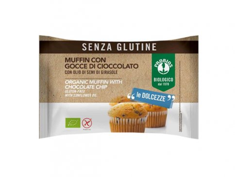 Muffin con Gocce di Cioccolato - Senza Glutine Monoporzione (50 gr.)