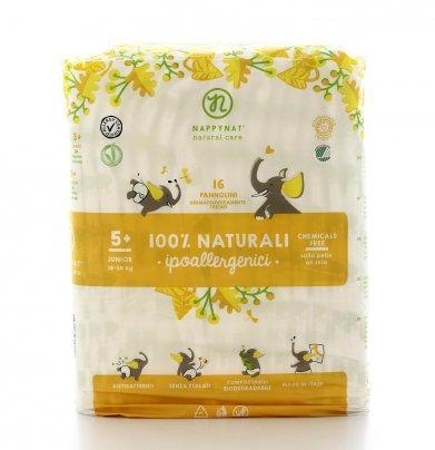 Pannolini 100% Naturali Ipoallergenici Taglia Junior 18/30 Kg.