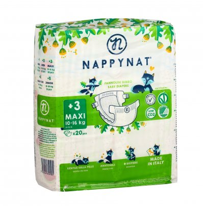 Pannolini 100% Naturali Ipoallergenici Taglia Maxi 8/16 Kg.