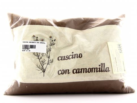 Cuscino Decorato con Camomilla