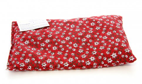 Cuscino con Noccioli di Ciliegia Rettangolare Rosso