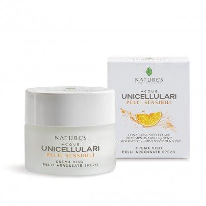 Crema Viso Pelli Arrossate Spf 20 - Acque Unicellulari