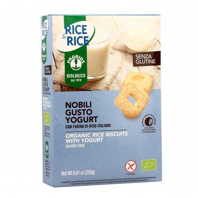 "Biscotti Nobili Gusto Yogurt e Riso ""Rice & Rice"" - Senza Glutine"