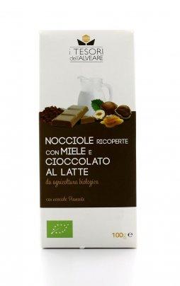 Nocciole Bio con Miele e Cioccolato al Latte 100 gr.