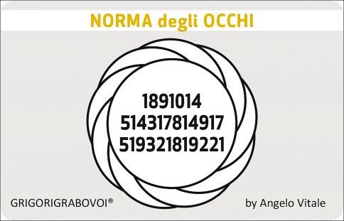 Tessera Radionica 84 - Norma degli Occhi