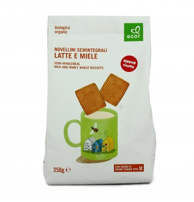 Biscotti Novellini Semintegrali Latte e Miele