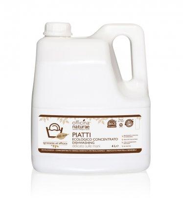 Detersivo Liquido per Piatti a Mano Concentrato Tanica Bioplastica - 4 Litri