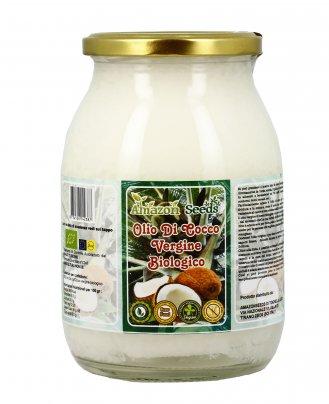 Olio di Cocco Vergine Bio e Raw Food 1000 ml