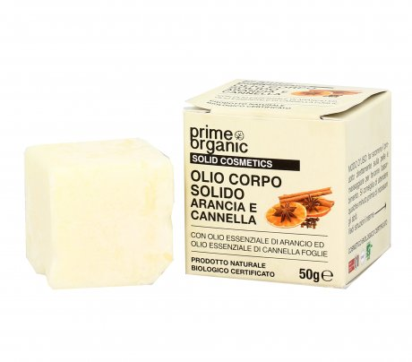 Olio Corpo Solido con Arancia e Cannella