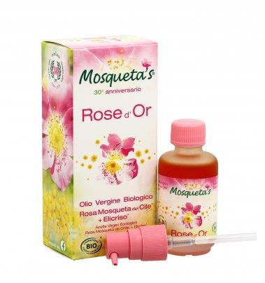 """L'Olio di Rosa Mosqueta del Cile + Elicriso """"Rose d'Or"""""""