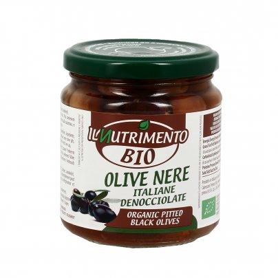 Olive Nere Italiane Denocciolate in Salamoia Bio